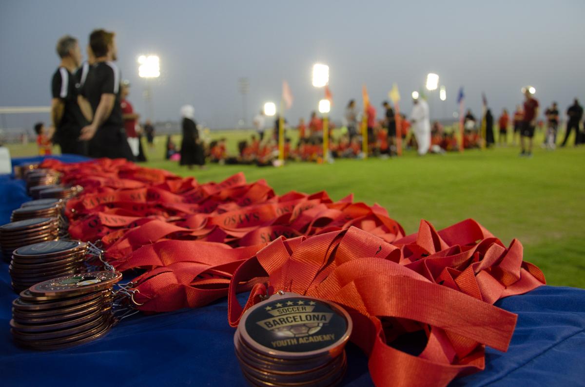 Les medalles per als participants al BCN CAMP SAYSO