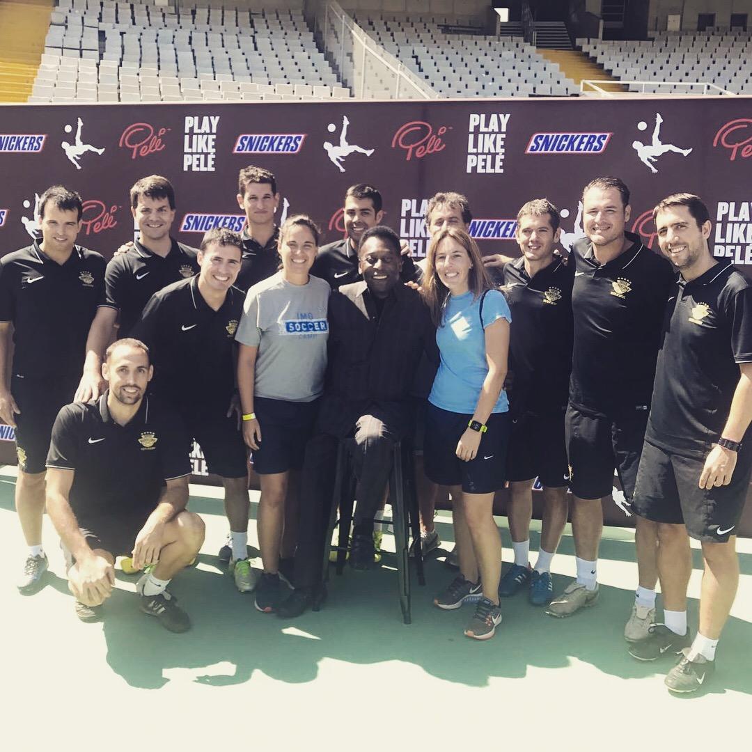 Els entrenadors de SBYA amb Pelé