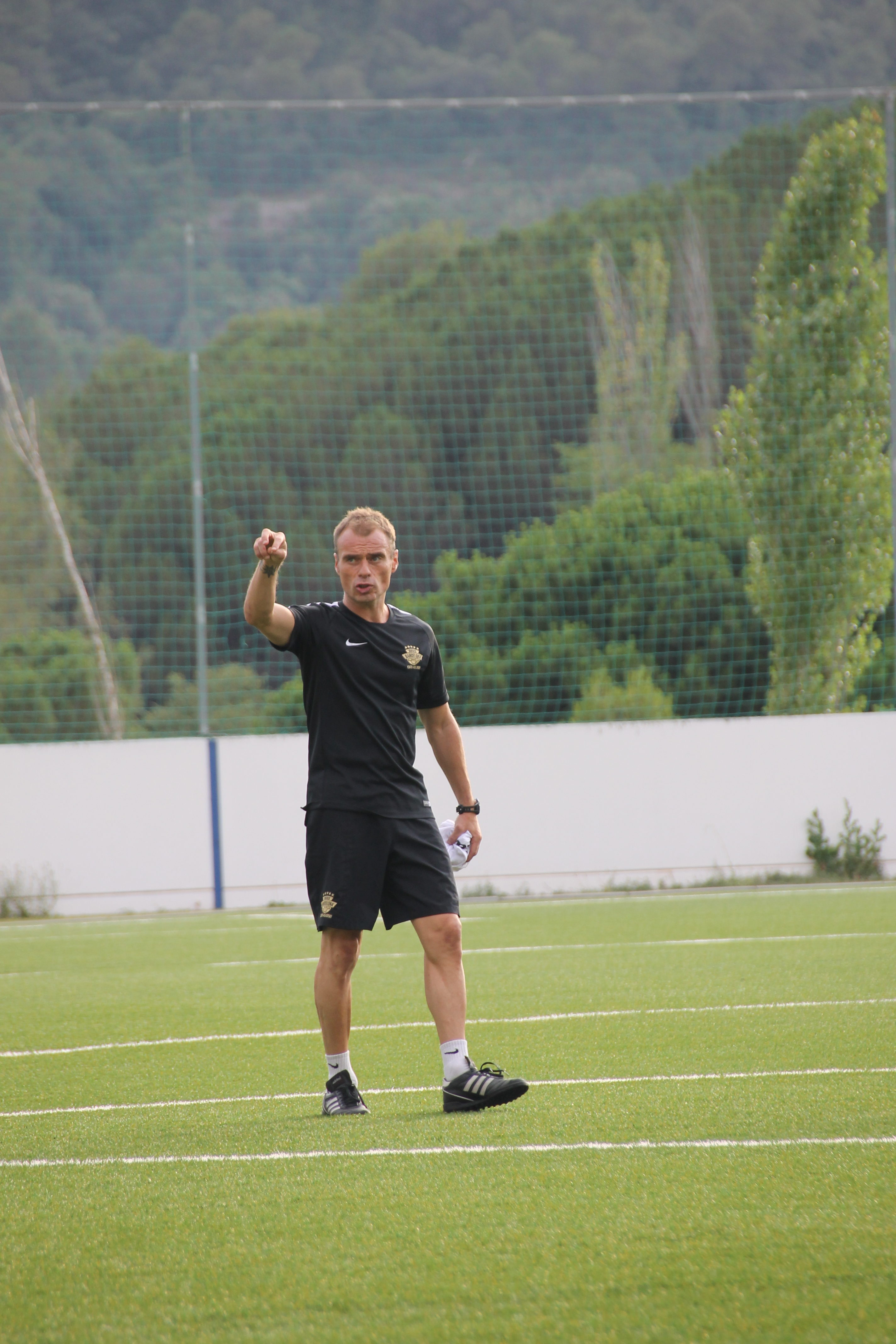En Xavi a l'entrenament per la Vildbjerg Cup